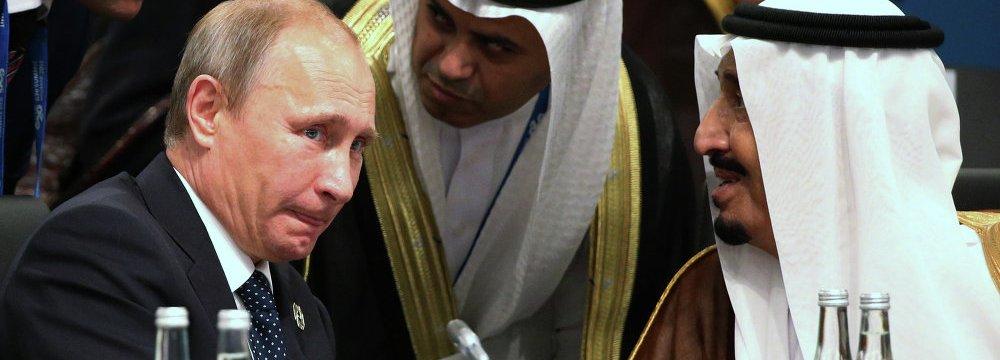 Putin, Saudi King  Discuss Syria Conflict