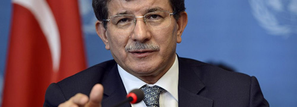 Turkey's Davutoglu Equates Netanyahu to Paris Attackers