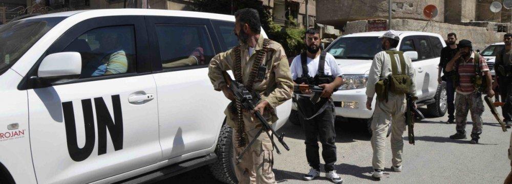 UN Talks of  New Syria Peace Plan