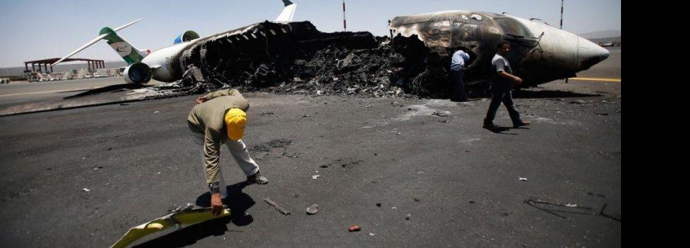UN Condemns Saudi-Led Attacks on Sanaa Airport