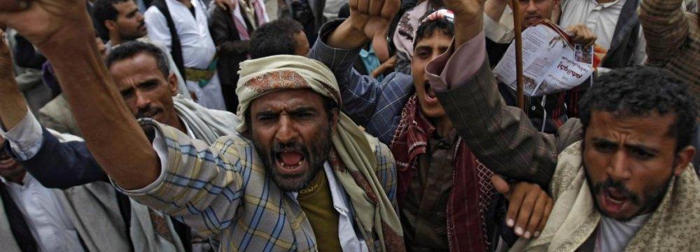 Yemenis Rally Against President, Al-Qaeda