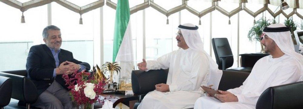 UAE Economy Minister, Iran Envoy Confer