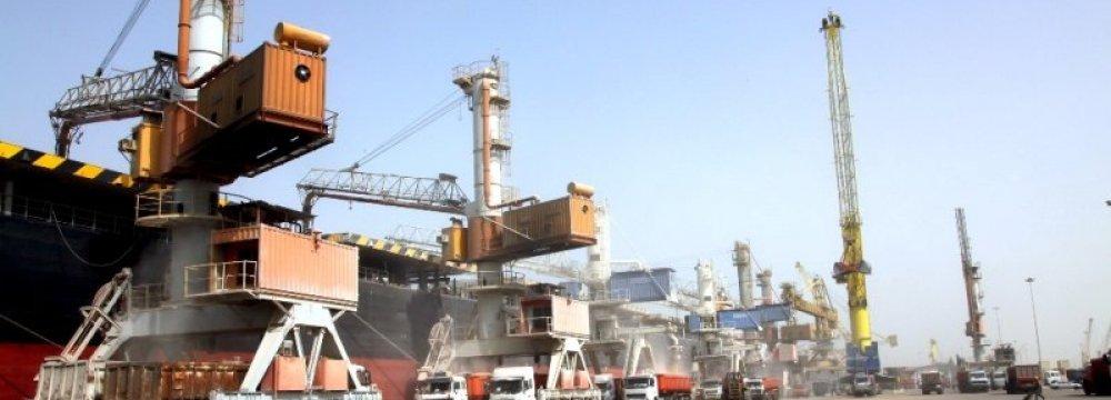 Exports via Sistan-Baluchestan