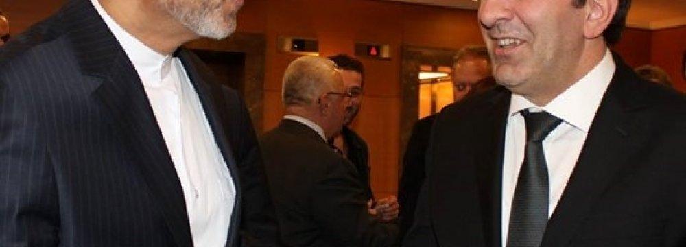 Turkey Economy Minister, Iranian Envoy Discuss Expanding Ties