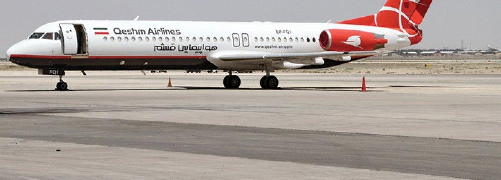 Qeshm-Muscat Flight Planned