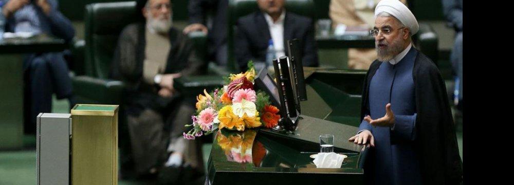 Rouhani: Economy  Needs Stability