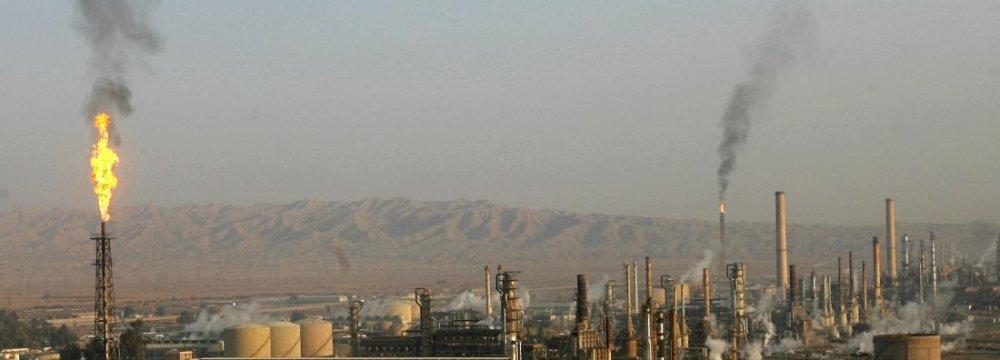 Beiji Oil Refinery Ablaze