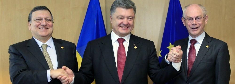 EU, Ukraine Sign   Free Trade Agreement