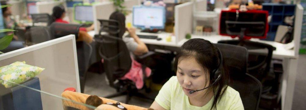 China Services Gauge Declines