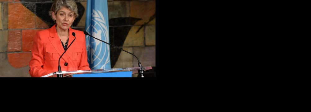 UNESCO Chief Calls for  New Forms of Cultural Literacy