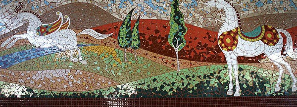 Mosaic Murals in Tehran