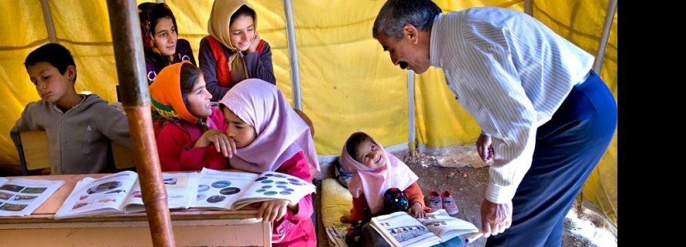 Teaching Nomad Children Onerous Task