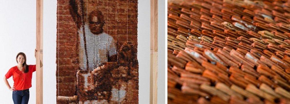 Amazing Mural of 20,000 Tea Bags