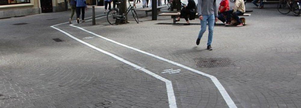 Text Walking Lane for Mobile Geeks