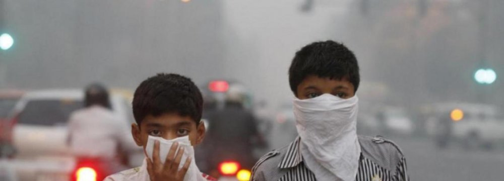 India Air Pollution Detrimental to Kids' Health