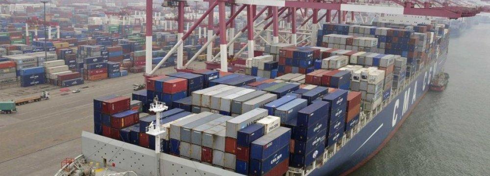 ChinaExportsRise,ImportsDecline