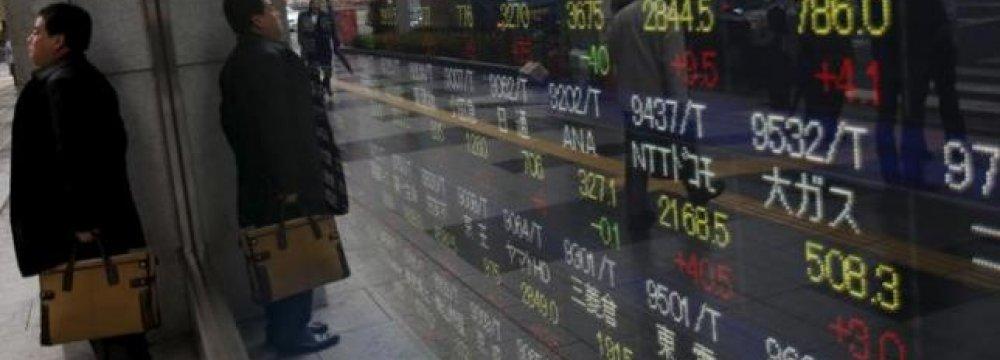 Asian Shares Slip as US Economic Struggles