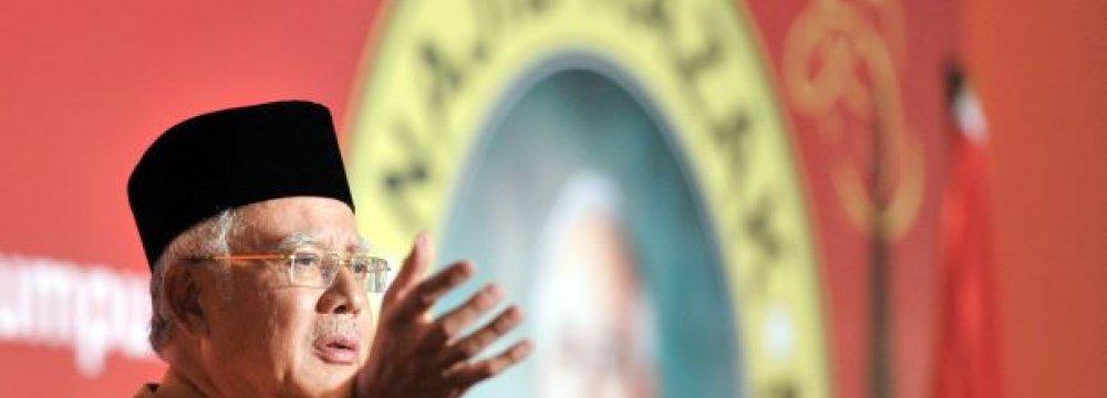 Malaysia's Razak Seems Confident