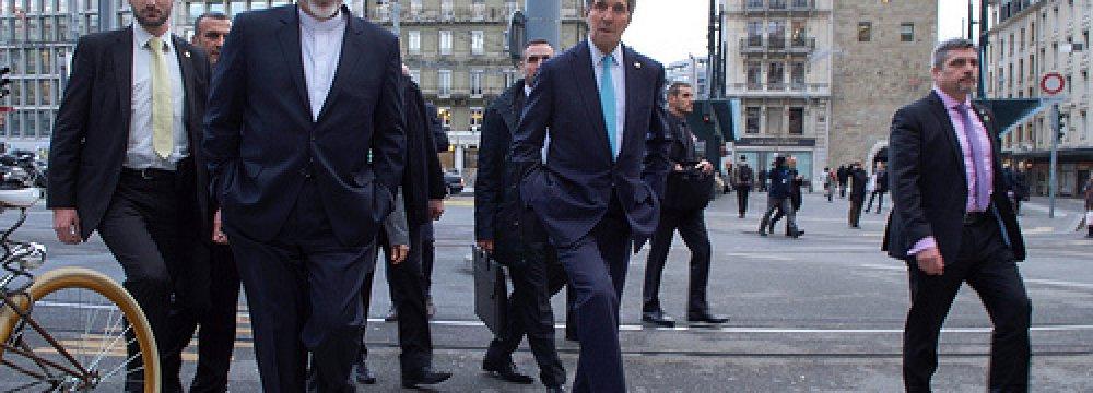 Zarif, Kerry to Join Geneva Talks