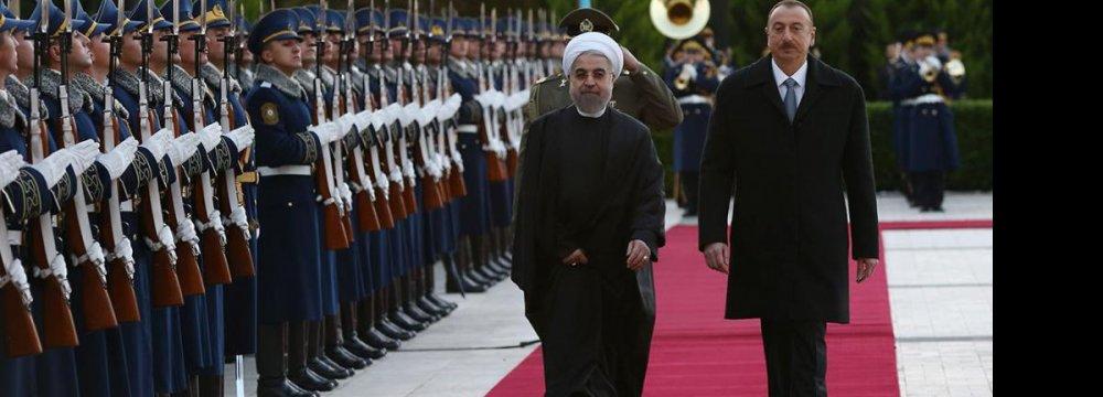 Rouhani in Baku