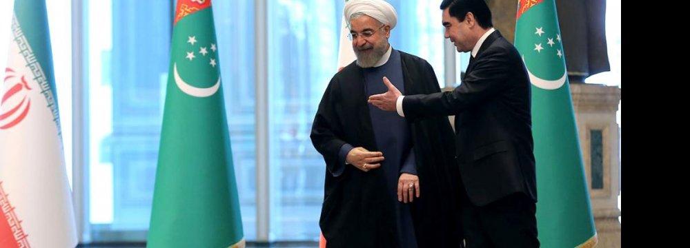 Rouhani Explores Enhanced Turkmen Ties