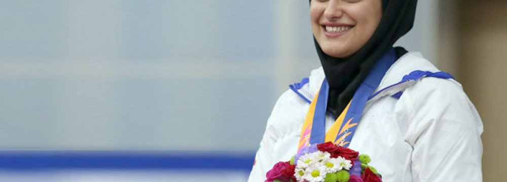 Gold for Iranian Female Shooter