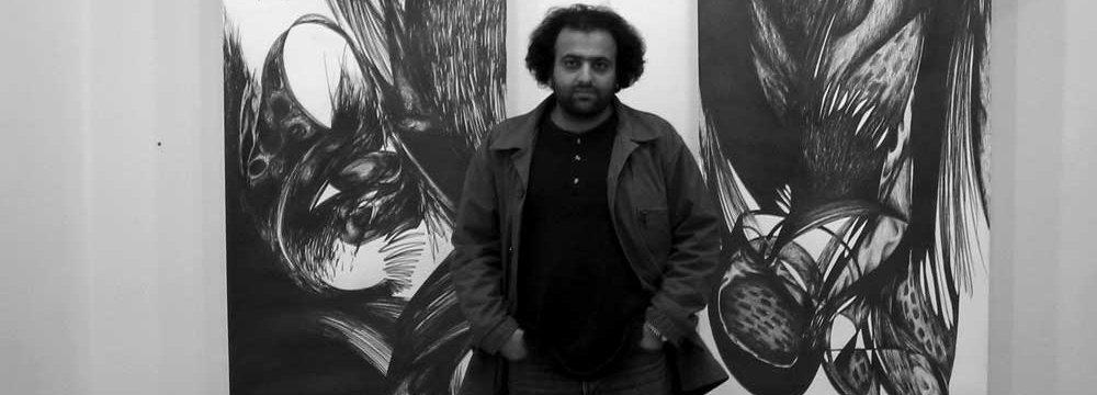 Iranian Artist at London Fair