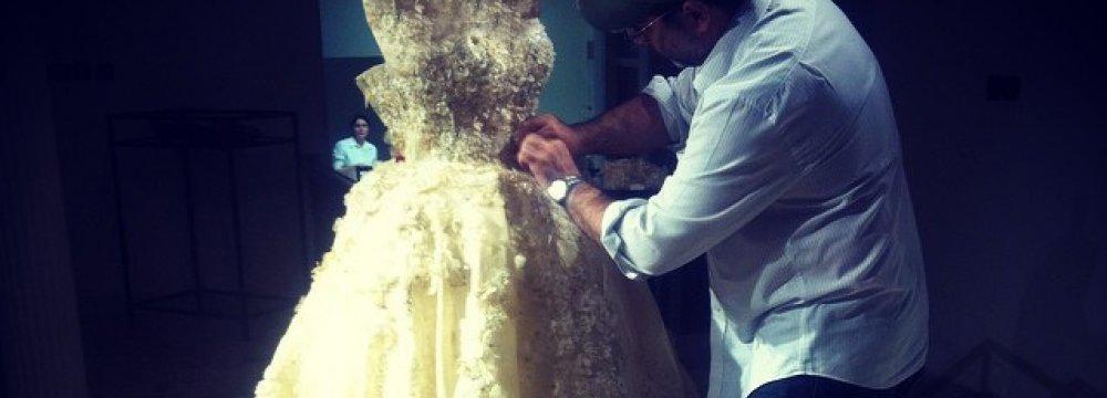 Iranian Designer  at Swarovski Couture Expo