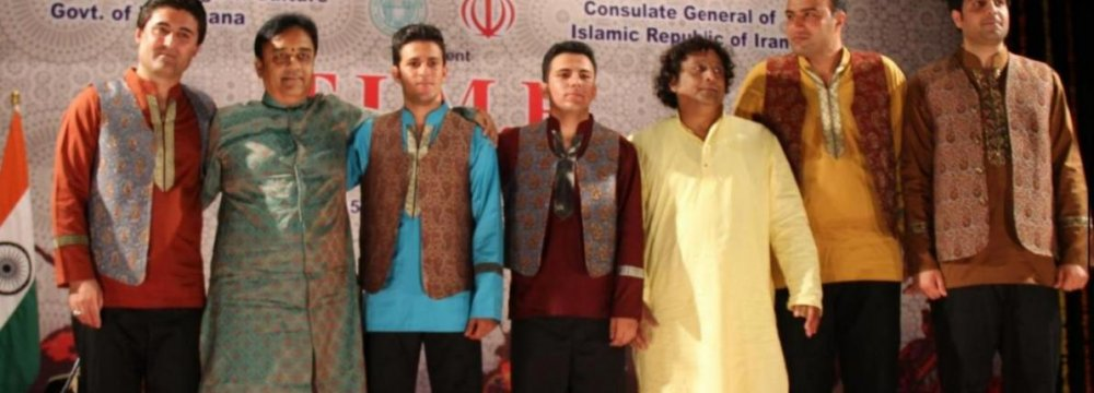 Music Band Takes Indian Stage