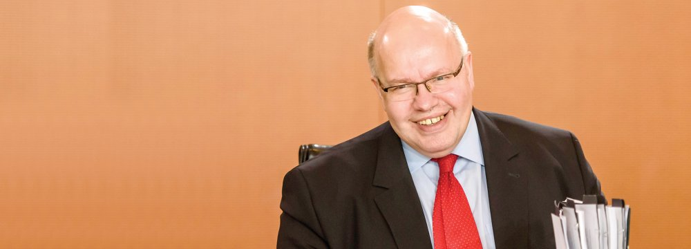 German Economy Minister Peter Altmaier