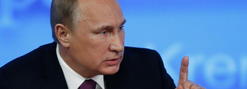 Putin Slams New US Anti-Russia Sanctions