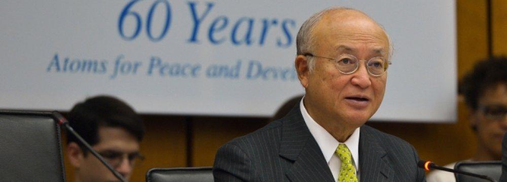 Amano Updates IAEA Governors on JCPOA