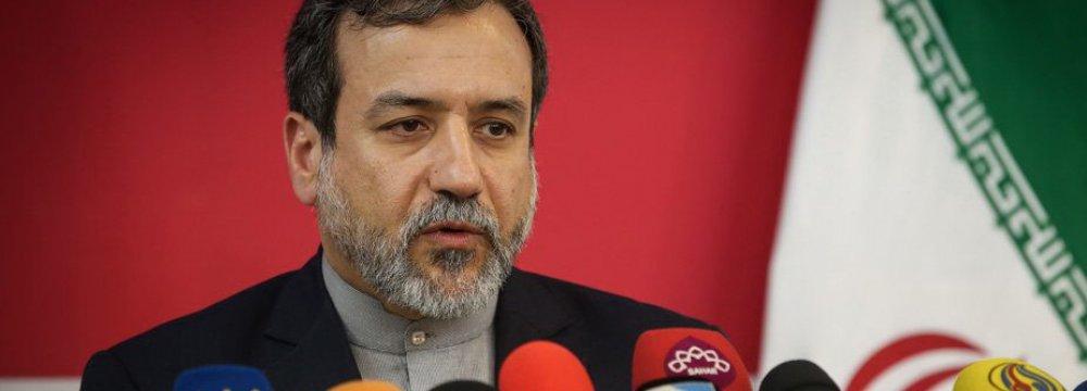 Deputy Foreign Minister for Political Affairs Abbas Araqchi