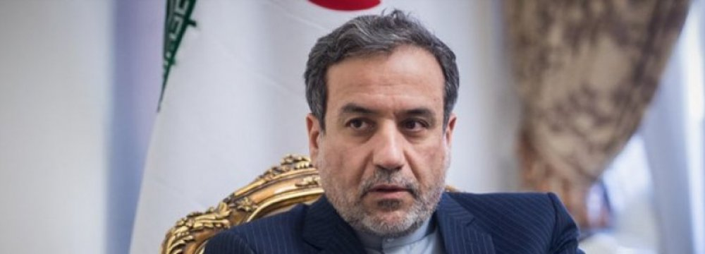 Araqchi to Convey Rouhani's Message to Macron
