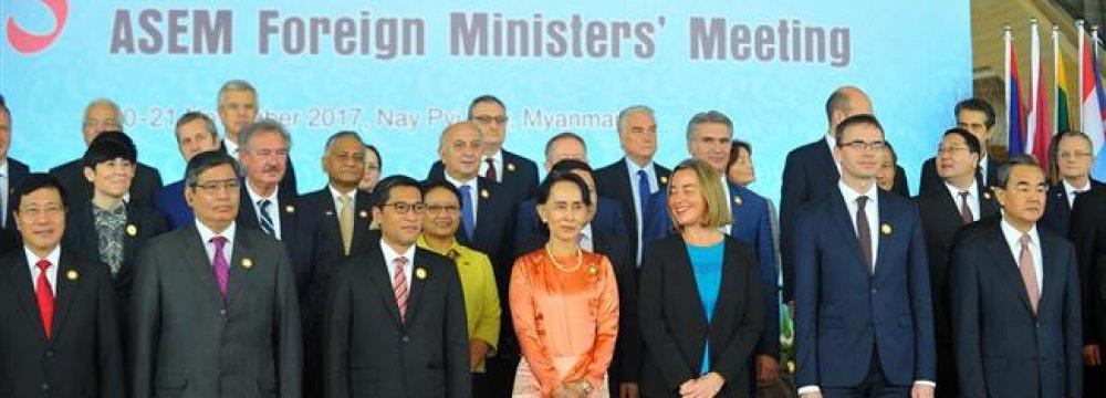 Asian, European FMs Support JCPOA