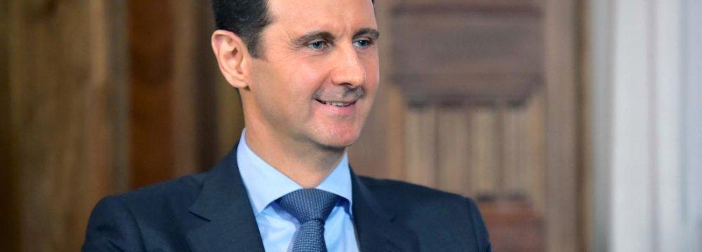 Assad Thanks Leader for Backing Syria
