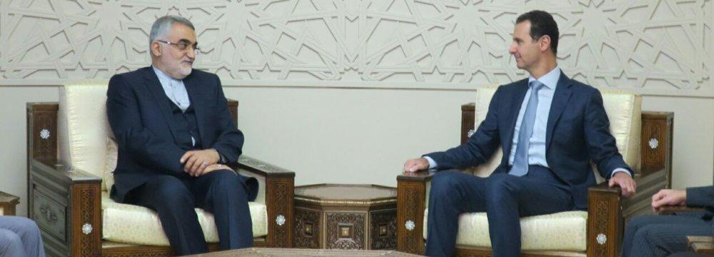 Senior Lawmaker Meets Assad