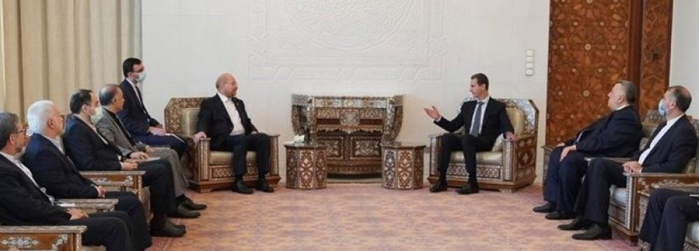 Assad: Iran a Key Partner for Syria