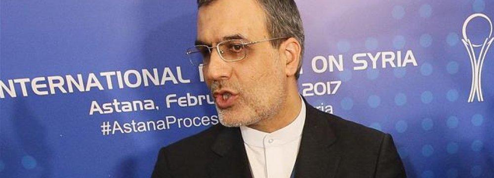 Expert-Level Syria Talks in Tehran Next Week