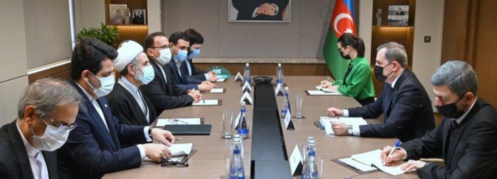 Tehran, Baku Seeking to Boost Ties