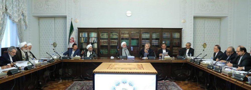 Rouhani and Larijanis Discuss Economic Issues