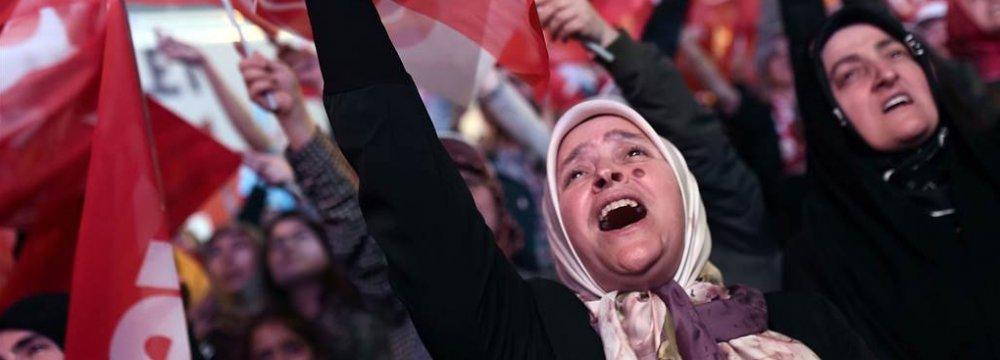 Greetings to Turkey on Affirmative Referendum