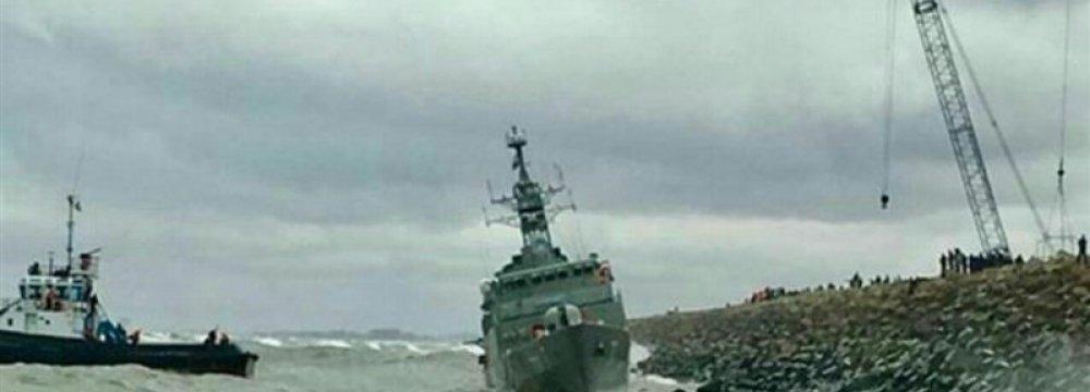 Warship Sustains Minor Damage in Caspian Sea