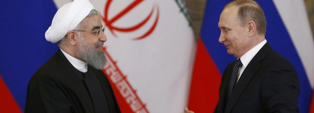 Putin, Rouhani Discuss Nuclear Deal, Region