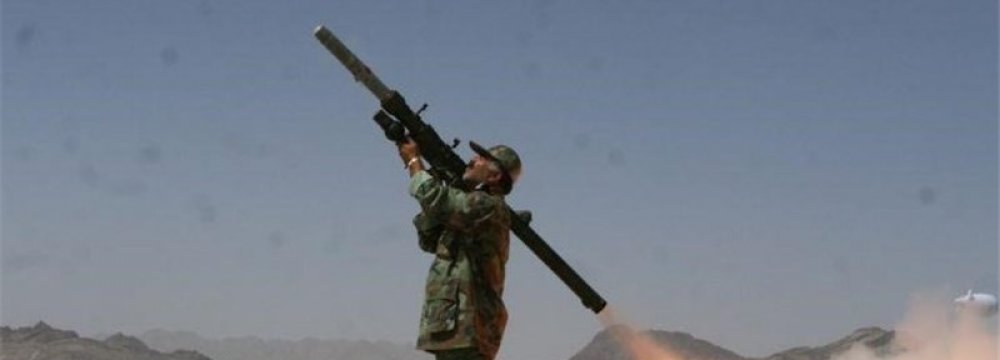 IRGC Tests Shoulder-Launched Weapon