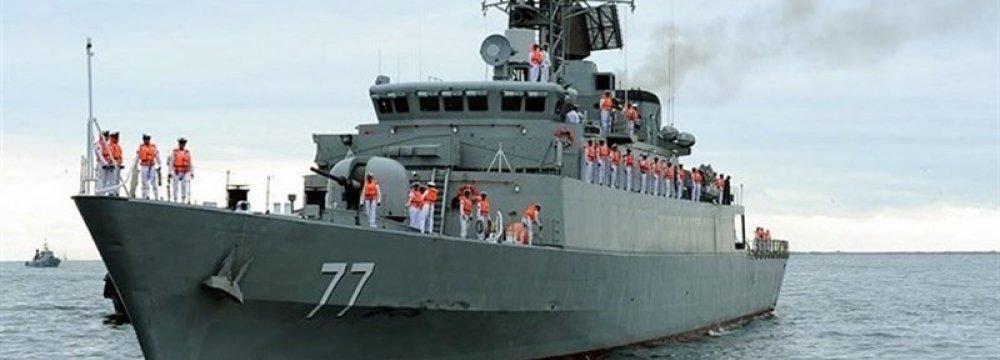 Naval Flotilla Calls at Russia's Makhachkala