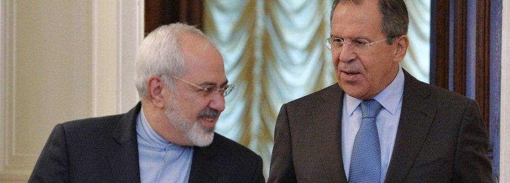 Lavrov, Zarif Talk on Phone