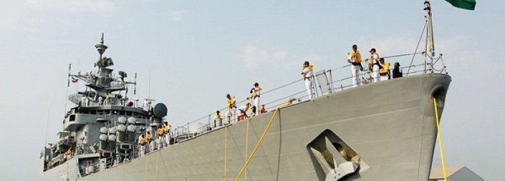Indian Frigate Docks at Bandar Abbas