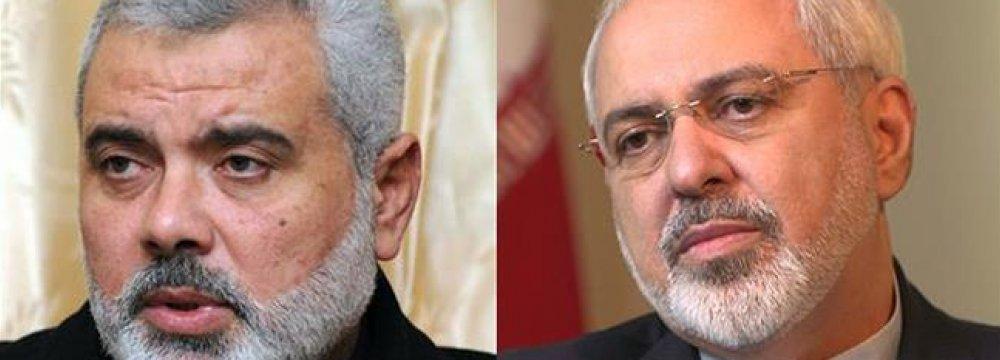 FM, Hamas Chief Talk on Phone