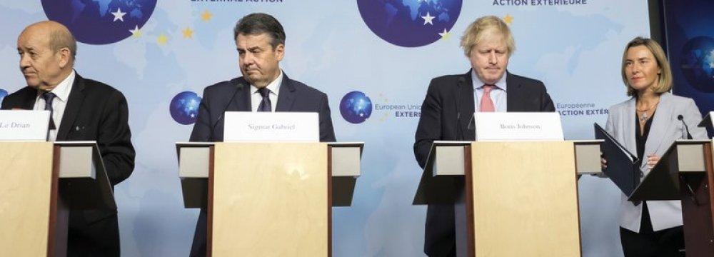 Berlin Seeking to Avert Collapse of Nuclear Deal